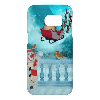 Coque Samsung Galaxy S7 Conception de Noël, le père noël