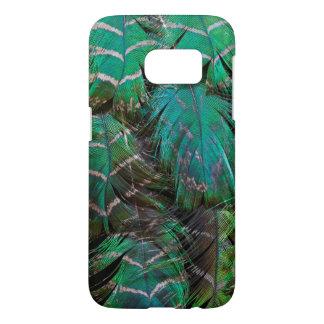 Coque Samsung Galaxy S7 Conception verte de plume de paon