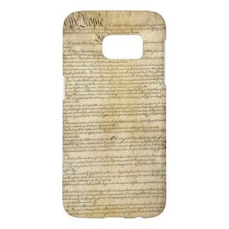 Coque Samsung Galaxy S7 Constitution d'Etats-Unis vintage