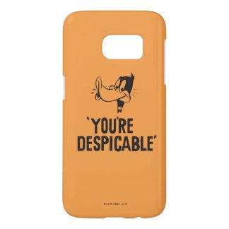 "Coque Samsung Galaxy S7 DAFFY classique DUCK™ ""vous êtes ignobles """