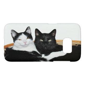 Coque Samsung Galaxy S7 Deux chats dans l'amour