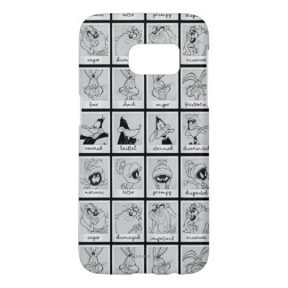 Coque Samsung Galaxy S7 Diagramme LOONEY d'émotion de caractère de TUNES™