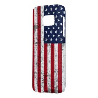 Coque Samsung Galaxy S7 Drapeau américain affligé