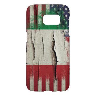 Coque Samsung Galaxy S7 Drapeau américain italien de la peinture | de