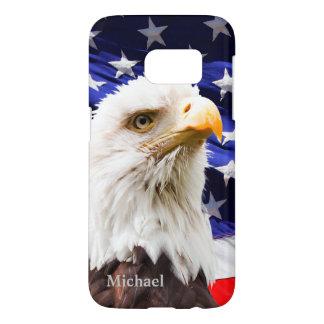 Coque Samsung Galaxy S7 Drapeau Eagle des Etats-Unis