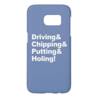 Coque Samsung Galaxy S7 Driving&Chipping&Putting&Holing (blanc)