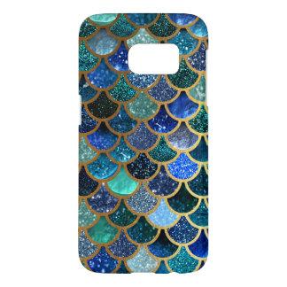 Coque Samsung Galaxy S7 Échelles turquoises bleues de sirène de