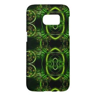 Coque Samsung Galaxy S7 En filigrane floral abstrait enlacé par vert