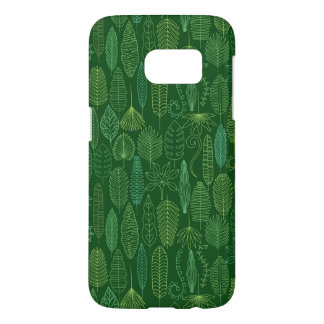 Coque Samsung Galaxy S7 Feuille tropical d'aquarelle