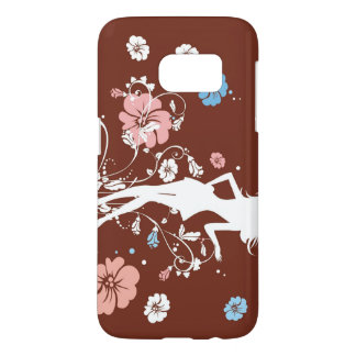 Coque Samsung Galaxy S7 Fille et fleurs