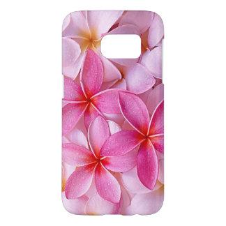 Coque Samsung Galaxy S7 Fleurs hawaïennes chics élégantes de Plumeria de