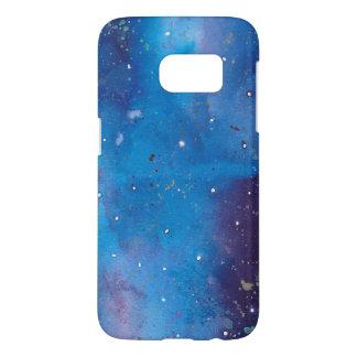 Coque Samsung Galaxy S7 Galaxie bleu-foncé
