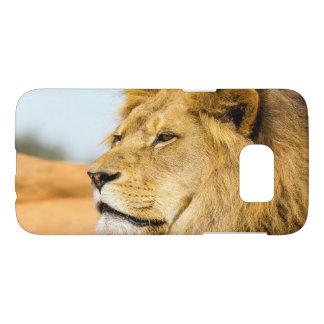 Coque Samsung Galaxy S7 Grand lion regardant loin