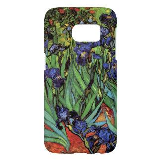 Coque Samsung Galaxy S7 Iris de Van Gogh, beaux-arts vintages de jardin