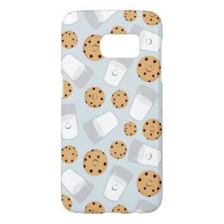 Coque Samsung Galaxy S7 Lait heureux et biscuits bleu-clair