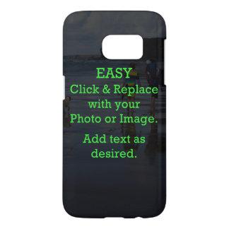 Coque Samsung Galaxy S7 Le clic facile et remplacent l'image pour créer