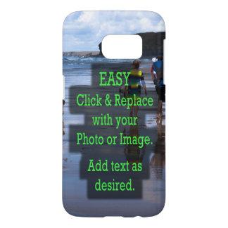 Coque Samsung Galaxy S7 Le clic simple et remplacent la photo pour créer