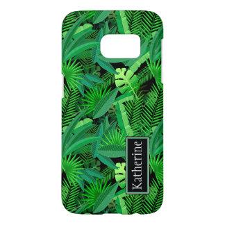 Coque Samsung Galaxy S7 Le feuille de palmiers tropicaux | ajoute votre