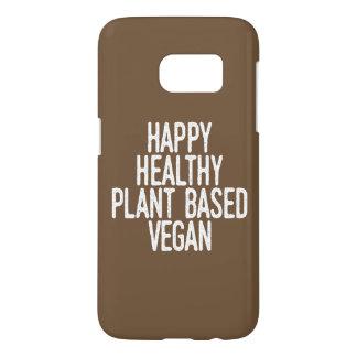 Coque Samsung Galaxy S7 Le plante sain heureux a basé le végétalien