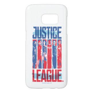 Coque Samsung Galaxy S7 Ligue de justice art bleu et rouge de | de groupe