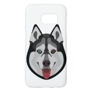 Coque Samsung Galaxy S7 L'illustration poursuit le chien de traîneau