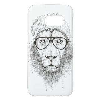 Coque Samsung Galaxy S7 Lion frais (noir et blanc)