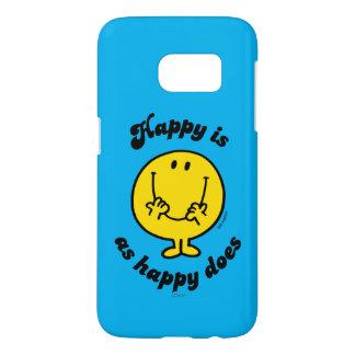 Coque Samsung Galaxy S7 M. Happy | heureux est comme heureux fait
