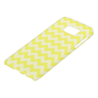 Coque Samsung Galaxy S7 Motif de zigzag assez jaune citron