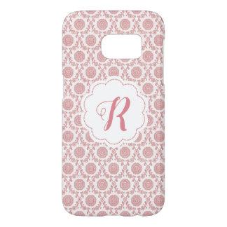 Coque Samsung Galaxy S7 Motif floral de rose fait sur commande de