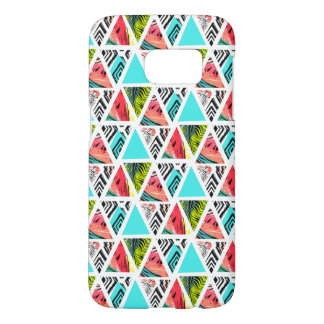 Coque Samsung Galaxy S7 Motif tropical abstrait coloré