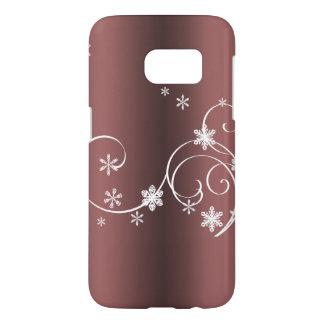Coque Samsung Galaxy S7 Noël métallique de Brown