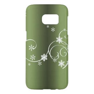 Coque Samsung Galaxy S7 Noël vert métallique