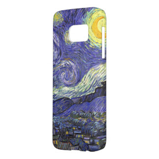 Coque Samsung Galaxy S7 Nuit étoilée de Van Gogh, paysage vintage de
