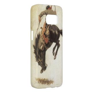 Coque Samsung Galaxy S7 Occidental vintage, cowboy sur un cheval