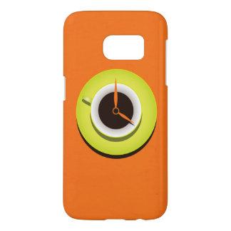 Coque Samsung Galaxy S7 Orange vibrante élégante de temps de café