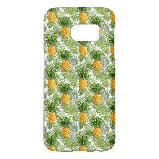 Coque Samsung Galaxy S7 Palmettes et ananas tropicaux