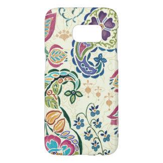 Coque Samsung Galaxy S7 Paon décoratif et fleurs colorées