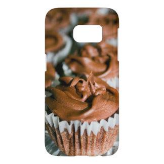Coque Samsung Galaxy S7 Petits gâteaux givrés par chocolat sur une photo