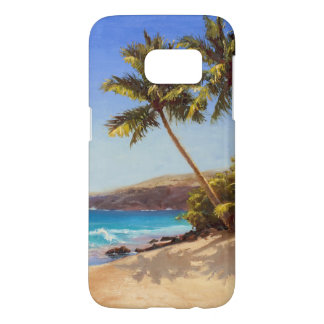 Coque Samsung Galaxy S7 Plage et cas tropicaux de fuite d'île de palmiers