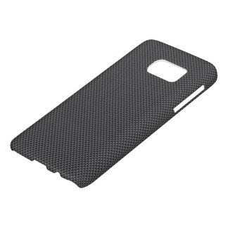 Coque Samsung Galaxy S7 Polymère noir et gris de fibre de carbone
