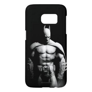 Coque Samsung Galaxy S7 Pose large noire et blanche de la ville | Batman