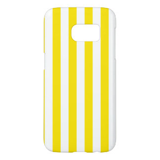 Coque Samsung Galaxy S7 Rayures jaunes verticales