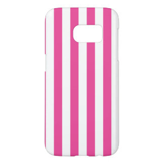 Coque Samsung Galaxy S7 Rayures verticales roses