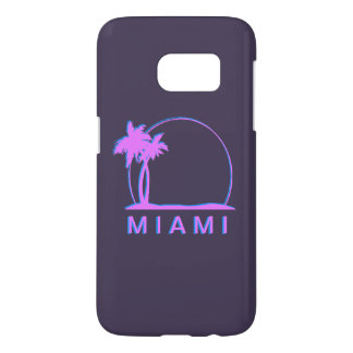 Coque Samsung Galaxy S7 Rose de couverture de Samsung S7 Miami et