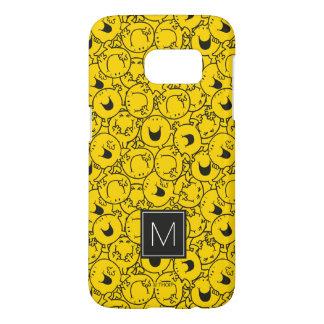 Coque Samsung Galaxy S7 Série de monogramme jaune du motif | de sourires