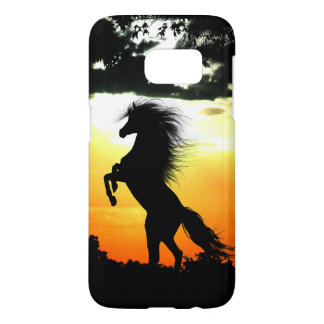 Coque Samsung Galaxy S7 silhouette de cheval de coucher du soleil