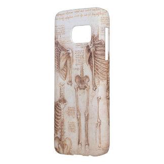 Coque Samsung Galaxy S7 Squelettes humains d'anatomie par Leondardo da