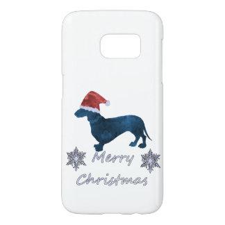 Coque Samsung Galaxy S7 Teckel de Père Noël