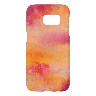 Coque Samsung Galaxy S7 Touché par couleur pour aquarelle du feu
