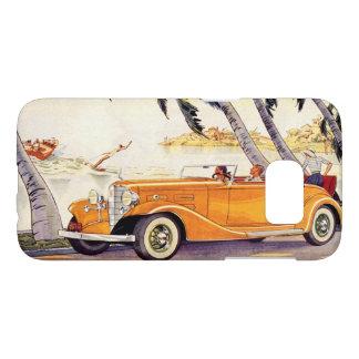 Coque Samsung Galaxy S7 Vacances de famille vintages dans une voiture